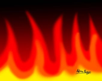 Flames 8x10 size
