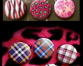 Set of 11 graphics Scottish Tartan patterns Badges