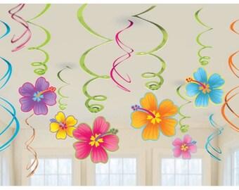 Moana luau swirl hanging party decoration