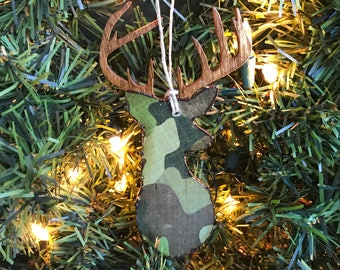 Deer Hunting Ornament, Buck Ornament, Deer Ornament, Camo Gifts for Hunters, Ornaments For Men, Hunting Gift, Christmas Ornament for Him