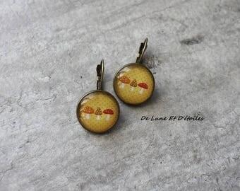 Magical mushrooms earrings