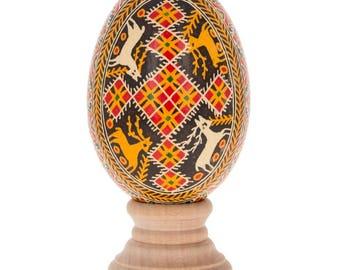 Shyroke Real Goose Eggshell Hand Decorated Ukrainian Easter Egg Pysanky