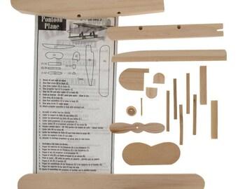 """7.25"""" Blank Unfinished Wooden Float-plane Building Pontoon Model Kit"""