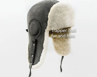 Sheepskin AVIATOR HAT warm and cozy