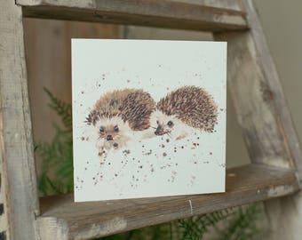 Mr and Mrs Hedgehog Card