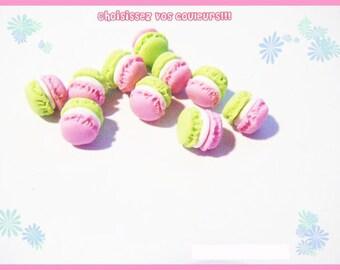 ♥ 10 macarons Fimo polymer clay for jar ♥