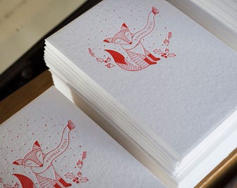 Happy holidays Fox greeting card