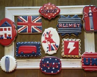 UK -United Kingdom - Union Jack Flag - One Dozen