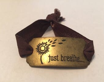 Just Breathe Burnished Gold Bracelet
