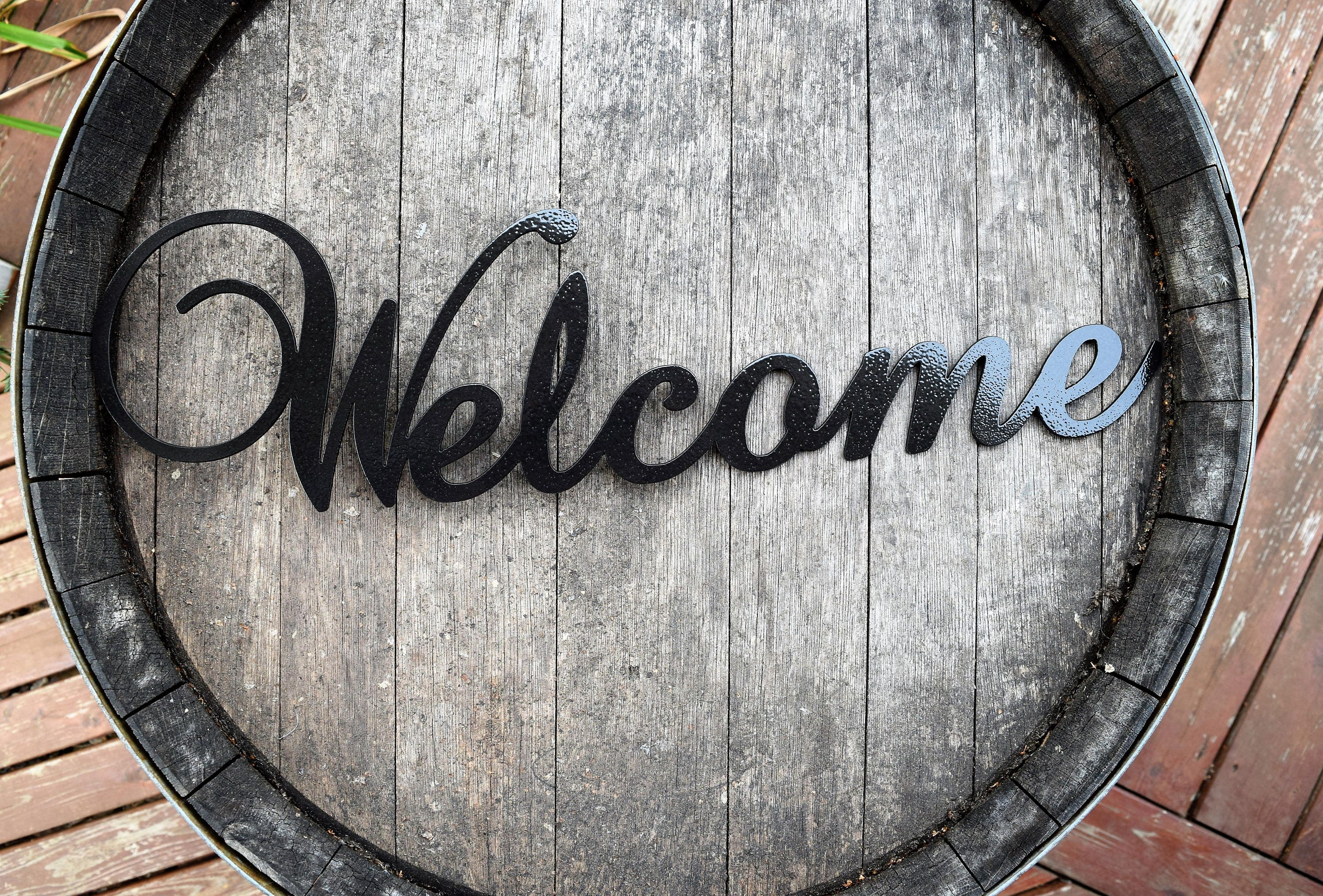 Decorative Metal Welcome Signs