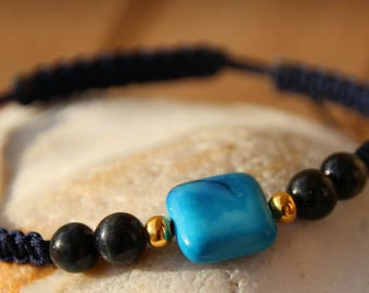 shamballa bracelet with blue Jasper bead