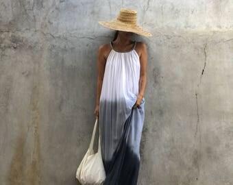 Gradation color Maxi Dress, summer dress,prengnant woman,comfy,boho dress, beach cover up, Summer women dress, long dress,tall women dress