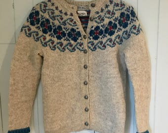 Vintage Wool Sweater Made in Norway// Norwegian Wool Sweater