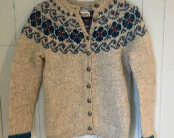 Vintage Wool Sweater Made in Norway// Norwegian Wool Sweater