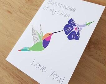 Anniversary card -Sweetness of my life