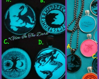 """Mythical/Fantasy Themed Glow in the Dark 24"""" Necklace"""