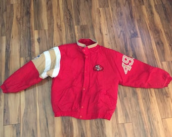 Vintage San Francisco 49ers Starter jacket men size Large