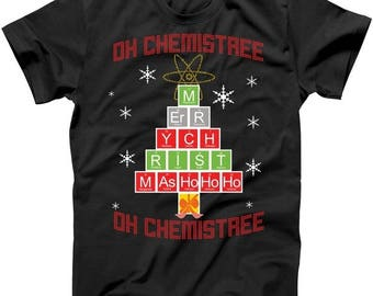 Oh Chemist Tree (Ugly Christmas Sweater Design) - T shirt