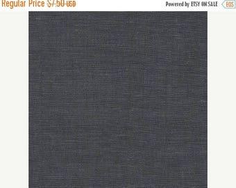"20% Off Wexford Indigo Denim from Robert Kaufman, Lightweight Cotton & Linen 57/43 Blend Fabric 54"" Wide - Half Yard"