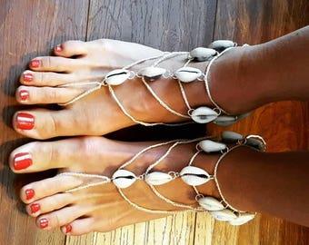 Cowry Barefoot Sandal