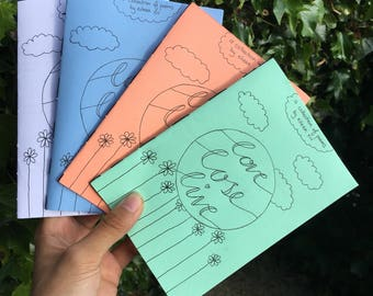 love lose live poetry zine - long and short poems on mental health, loving and living