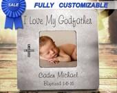 Godparent Gift Godparent Frame Godfather Gift Baptism Gift For Godparent Baptism Gift Boy Baptism Gift Baptism Frame Baptism Frame Godparent