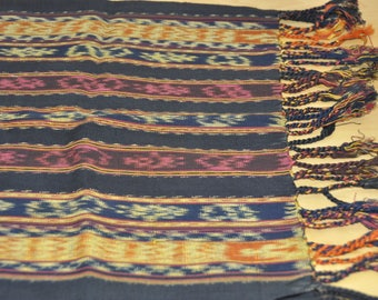 Ethnic ikat table runner