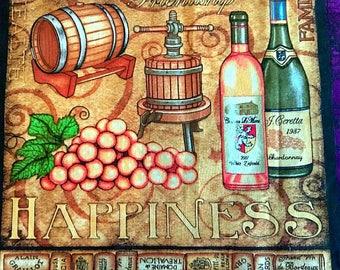 "Reversible Wine Appreciation Table Runner 40""x12"""