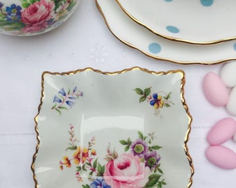 The Prettiest Vintage Old Foley Pin Dish, Jewelry Dish, Butter Dish