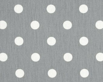 Grey Polka Dot Fabric by Premier Prints Storm Grey by the Yard