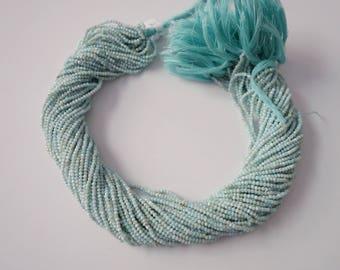 Larimar Micro Faceted Rondelles (AAA Grade)  ,  Larimar Rondelle Beads