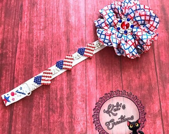 Bling 4th of July Headband, fourth of july headband, red white and blue headband, baby girl headband, baby girl headband, fourth of july