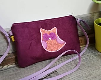 "The Pocket Moon, my first ""OWL"" suede handbag"