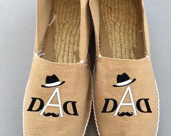 "custom ""dad"" men shoes"