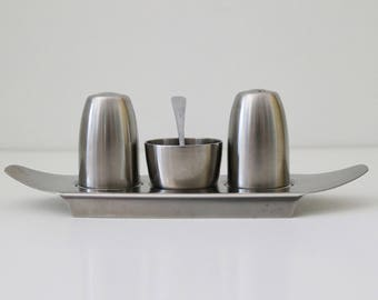 Old Hall Campden stainless steel cruet set
