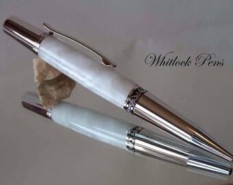 Executive Pearl White Ballpoint Pen