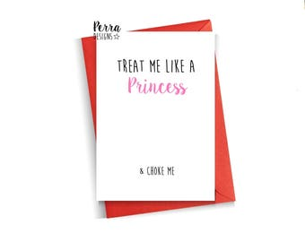 Funny Valentine's card, valentines day, funny, humour, comical, cheeky, witty, for him, husband, sarcasm, Valentine's day, rude, dirty