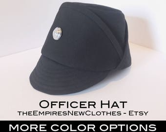 SPECIAL DEAL: Refer a Friend and Save 5 dollars - Officer Hat, Imperial, Code Disc with Notch, Gabardine Twill, Black, Olive Green, White