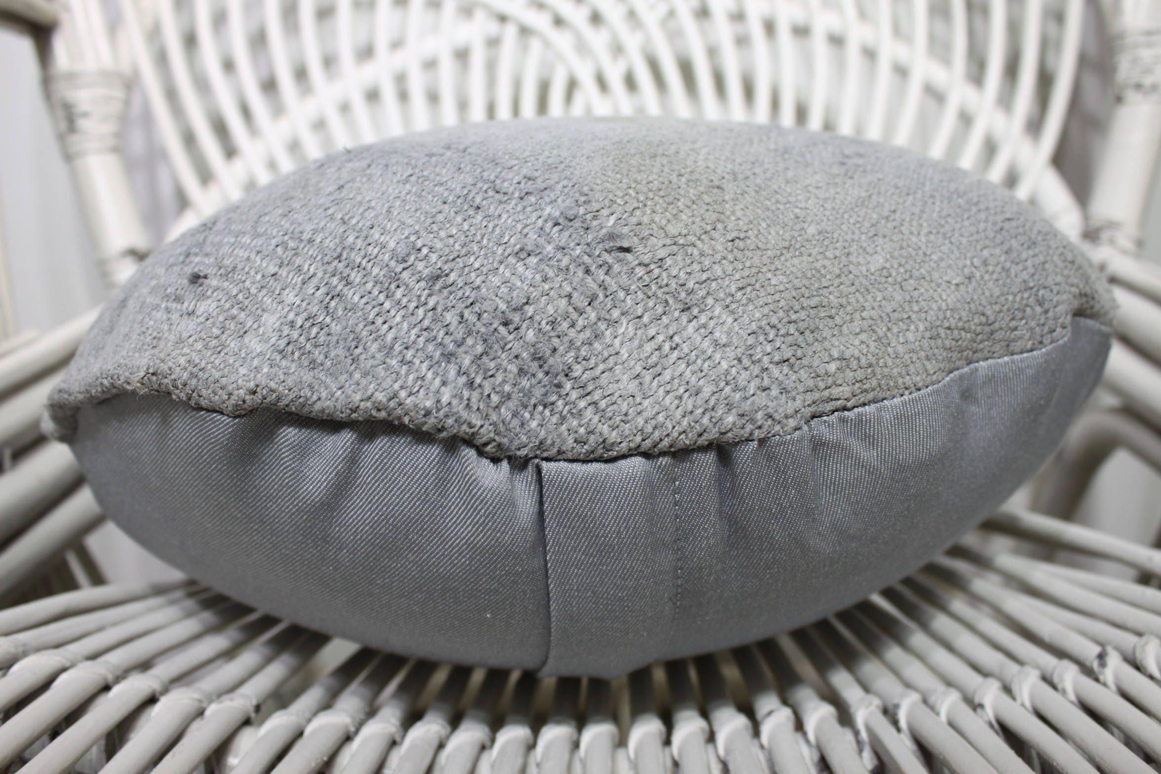 Out Door Pillow Cover Pale Color One Color Sofa Circle Pillow 16x16 Kilim Pillow Round Pillow & Out Door Pillow Cover Pale Color One Color Sofa Circle Pillow ... pezcame.com