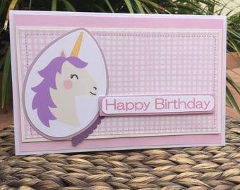 Birthday cards/ Pink/ Purple/ Unicorn/ Bird