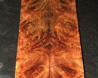 Stabilized York Gum Burl Knife Scales E-063