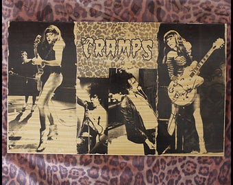 """Transfer image on wood """"The Cramps"""""""