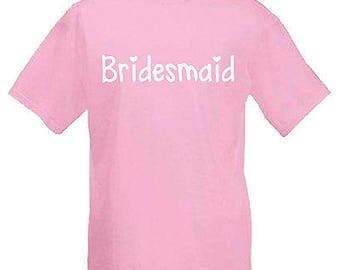 Bridesmaid children's kids t shirt