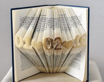 Wedding Gift for the Couple, Folded Book made from a brand new love story