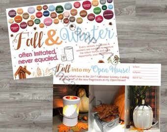 Printable! Double Sided Scentsy Fall & Winter Open House Invitation! INSTANT DOWNLOAD!