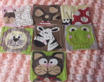 Set of seven wipes washable