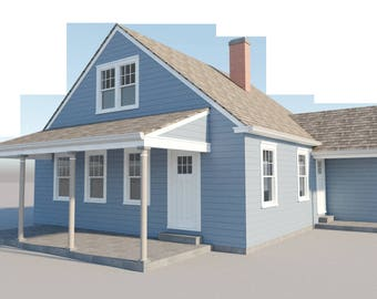 Build your own 840 sqft 3 bedroom home with loft (DIY Plans) Fun to build!