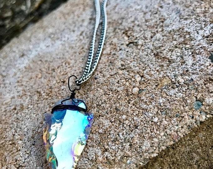 CLEARANCE SALE Angel Aura Arrowhead Necklace