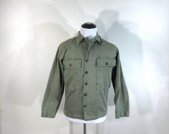 40's vintage military U.S.ARMY herringbone twill HBT fleld jacket size 32