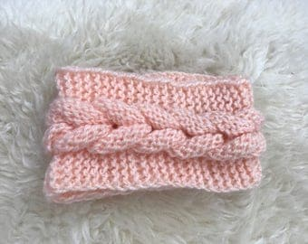 Braided crochet, headband, baby
